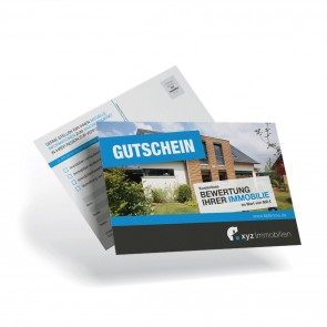 Postkarte DIN A6 Immobilienakquise