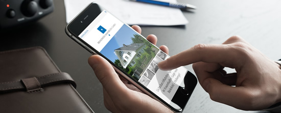 Mobile Immobilienhomepage